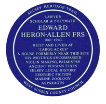 Edward heron-allen plaque