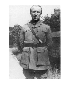 John Buchan in uniform with border