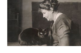 May Sinclair and cat